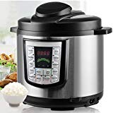 Enjoy Healthy, Mouthwatering, Home-cooked Meals without the hassle and mess!! Our 6QT Digital Electric Pressure Cooker is a smart programmable multi-cooker designed be versatile, convenient and safe. With 14 preset functions including browning and keep warm, manual operation, a 24-hour delay timer,and an 6 Qt. inner pot. You can cook a wide variety of meals for the whole family. Use the preset functions to cook delicious risotto, vegetables, meat, chicken, and much more with this versatile and elegant pressure cooker.