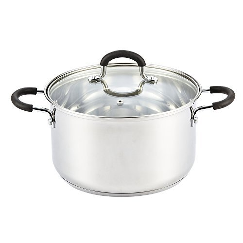 Cook N Home Stainless Steel Stockpot With Lid, 5 Quart, Silver by Cook N Home