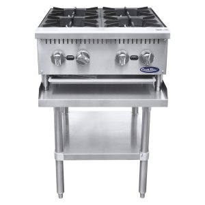 CookRite Four Burner Hot Plate Commercial Countertop Natural Gas Range