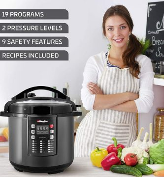 An intelligent electric PRESSURE cooker designed in germany, comfortable and reliable.